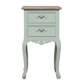 Camille Duck Egg 2 Drawer Bedside Table