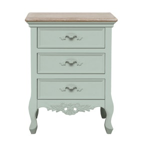 Camille Duck Egg 3 Drawer Bedside Table