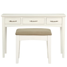 Hemsby White Dressing Table and Stool