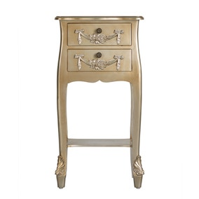 Toulouse Gold 2 Drawer Bedside Table
