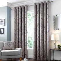 Hotel Teal Twilight Lined Eyelet Curtains