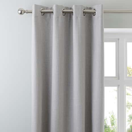 Solar Grey Blackout Eyelet Curtains