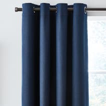 Navy Solar Blackout Eyelet Curtains