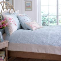 Duck Egg Evelyn Bedspread