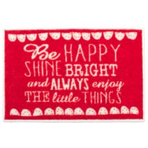 Be Happy Washable Doormat
