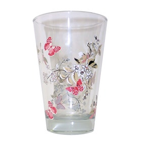 Beautiful Birds Butterflies Highball Glass
