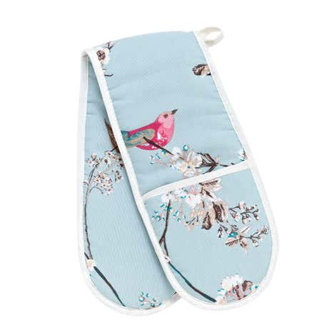 Beautiful Birds Double Oven Glove