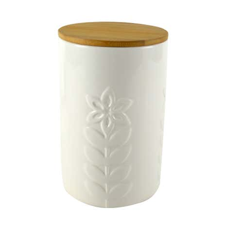 Cosy Scandi Embossed Storage Canister