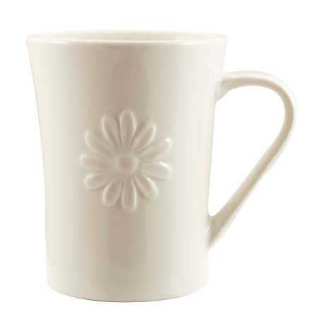 Daisy White Flared Mug
