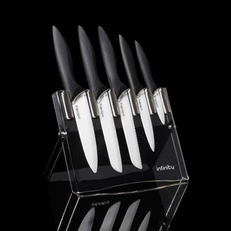 Infinity Ceramic 5 Piece Knife Block Set