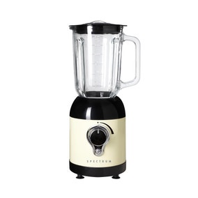 Spectrum Cream Glass Jar Blender