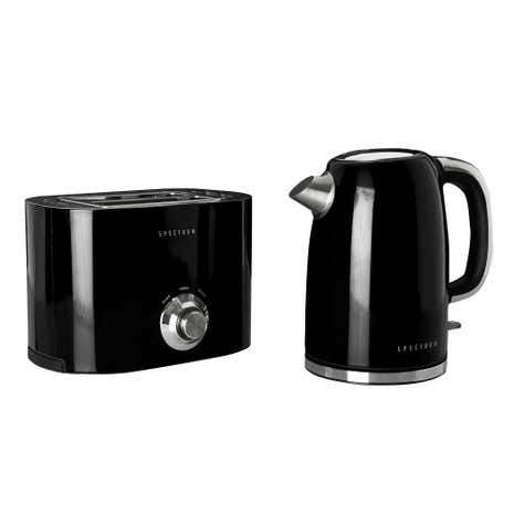 Spectrum Black Kettle and Toaster Set
