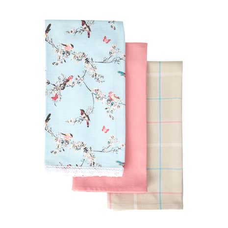 Beautiful Birds Pack of 3 Tea Towels