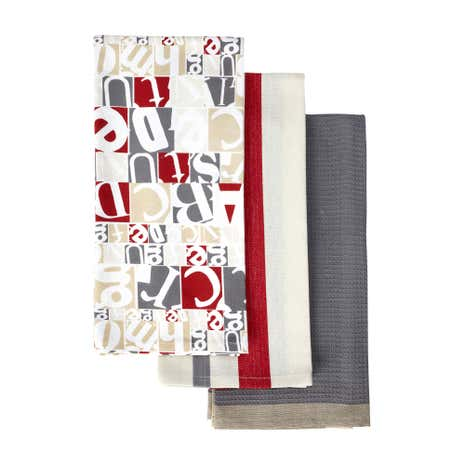 Pack of 3 Retro Salvage Tea Towels