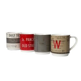 Salvage Pack of 4 Stacking Mugs