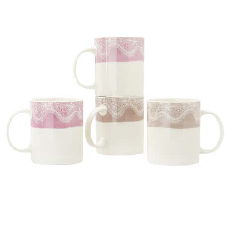Vintage Lace Pack of 4 Mugs