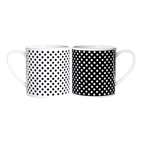 Pack of 2 Spotted Mugs Gift Set