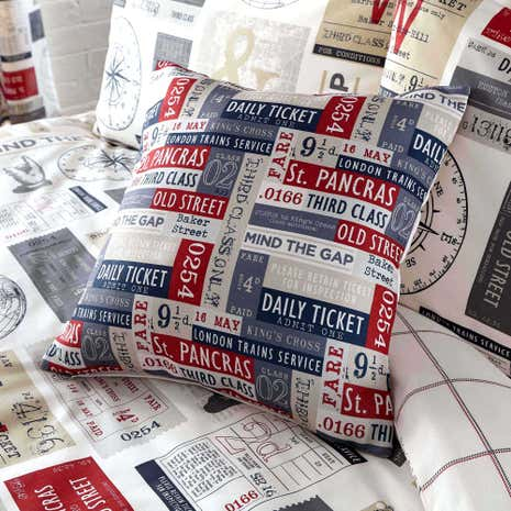 Salvage Ticket Square Cushion