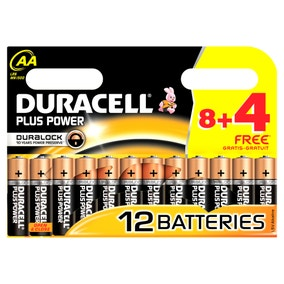 Duracell Plus Power AA 8 with 4 Free Batteries