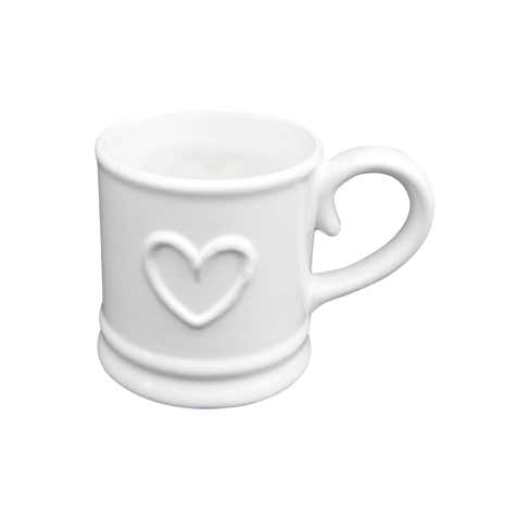 Country White Heart Espresso Cup