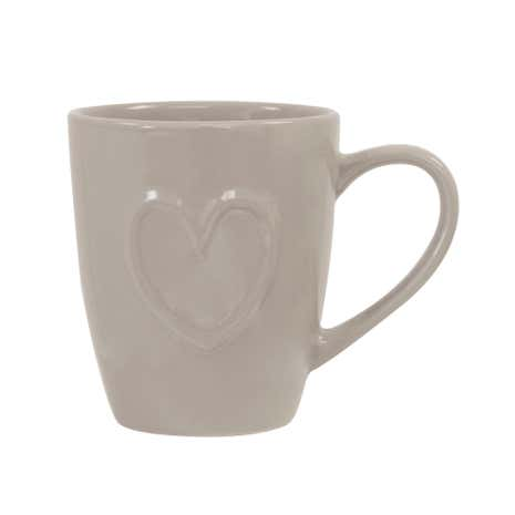 Country Taupe Heart Mug