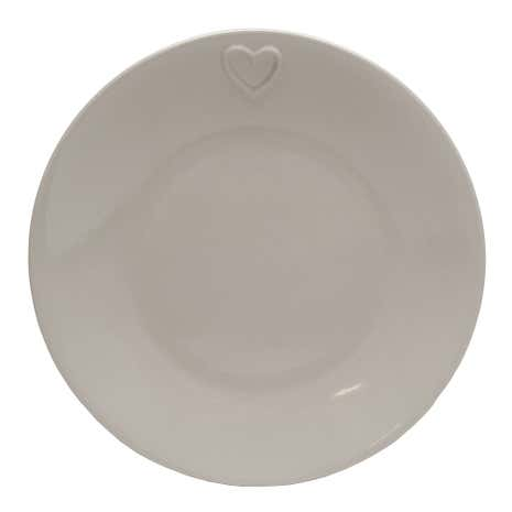 Country Taupe Heart Dinner Plate