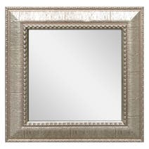 Beaded Edge Silver Effect Mirror