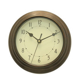 Bronze Mini Station Clock