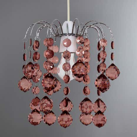 Amie Acrylic Drop Light Fitting
