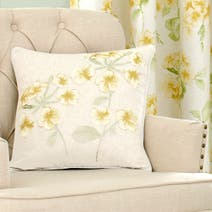 Ochre Primrose Square Cushion