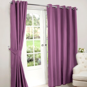 Nova Mauve Blackout Eyelet Curtains