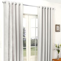 Natural Cassini Blackout Eyelet Curtains