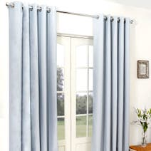 Duck Egg Cassini Blackout Eyelet Curtains