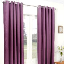 Aubergine Cassini Blackout Eyelet Curtains