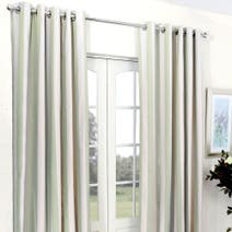Green Luna Blackout Eyelet Curtains