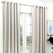 Natural Luna Blackout Eyelet Curtains
