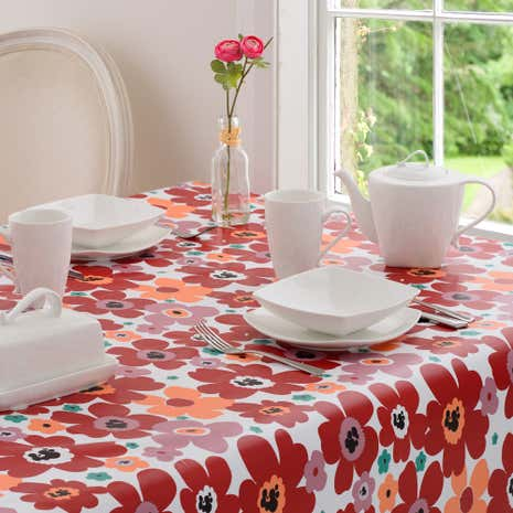 Aster Floral PVC Tablecloth