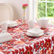 Aster Round Floral PVC Tablecloth