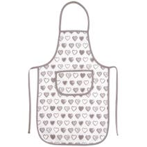 Taupe Country Heart Apron
