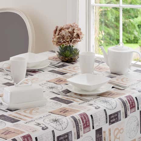 Tickets PVC Tablecloth