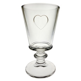 Country Heart Embossed Goblet