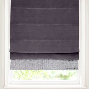 Silver Sequin Border Blackout Roman Blind