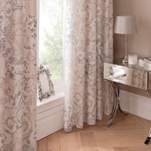 Dorma Taupe Valentina Lined Curtains