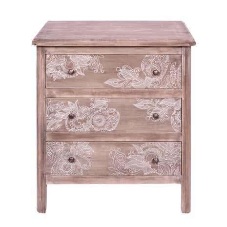 henna washed wood 3 drawer chest dunelm. Black Bedroom Furniture Sets. Home Design Ideas