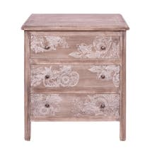 Henna Washed Wood 3 Drawer Chest