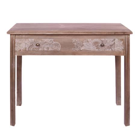 Henna Washed Wood Console Table