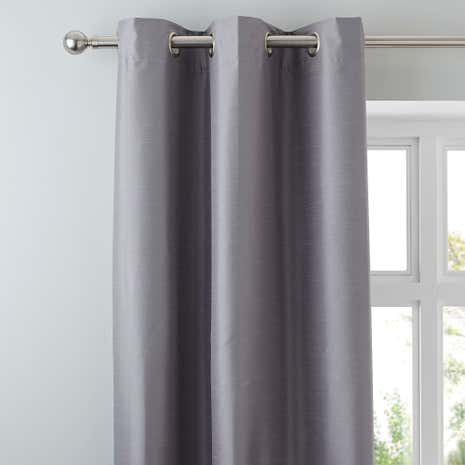Nova Silver Blackout Eyelet Curtains