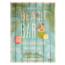 Beach Bar Printed Canvas