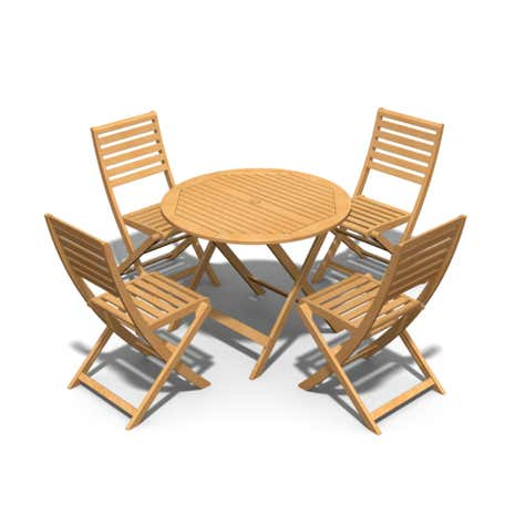 5 Piece Wooden Dining Set
