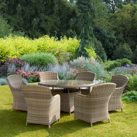 Arabian Deluxe 6 Seater Garden Dining Set